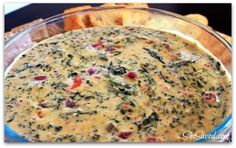 Looking for tailgate food? Check out my easy Spicy Spinach Dip Recipe, it's delicious and SO easy to make!