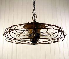 Interior: Cool Homemade Light Fixtures Ideas with Functional Stuff: Exceptional Pendant Lamps Design With Vintage Fan Upcycles Shade Hung On White Wooden Ceiling Suitable For Traditional Scandinavian Home D ~minnesotaplaybook.org Inspiration