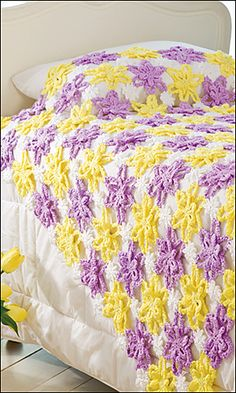 Ravelry: Pretty Posies Throw pattern by Terry Day. Crochet World Magazine, April 2013.