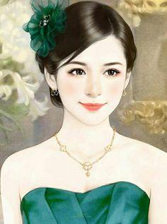 Chinese Drawings, Chinese Art, Geisha, Art Chinois, Asian Angels, Art Costume, Ancient Beauty, Painting Of Girl, Beautiful Anime Girl