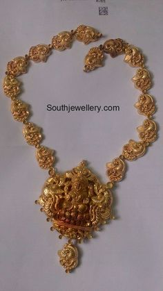 Antique Necklace latest jewelry designs - Page 74 of 332 - Indian Jewellery Designs Antique Jewellery Designs, Gold Ring Designs, Indian Jewellery Design, Jewelry Design, Antique Jewelry, Gold Temple Jewellery, Gold Jewelry, India Jewelry, Gold Necklaces