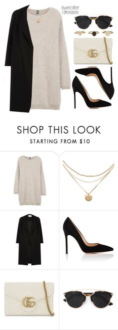"""""""Sin título #13620"""" by vany-alvarado ❤ liked on Polyvore featuring Eleventy, River Island, Gianvito Rossi, Gucci and Christian Dior"""
