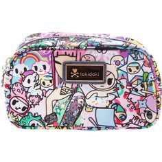 Tokidoki Spring Dreams Pastel Cosmetic Case found on Polyvore featuring beauty products, beauty accessories, bags & cases, makeup bag case, travel kit, cosmetic purse, wash bag and makeup purse