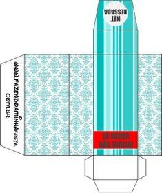Caixa Kit Ressaca Kit Toilet Banheiro Azul TIffany: