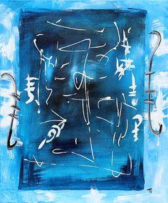 """"""" Abstract blue """" 60 x 50 cm Acryl auf Leinwand  Mafatime Dione / Senegal € 220,--"""