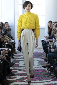 Delpozo, FW2013. The pants are nice. Sweater needs to go, but I'd love to make pants like this.