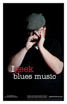 Bret geeks blues music.