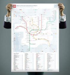 Unofficial Map: Metro and Suburban Rail, Milan