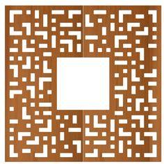 STREETLIFE Tree Grille CorTen Square with Matrix pattern. #StreetFurniture #TreeGrate #CorTen