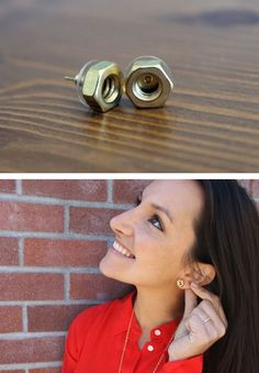 Who knew hex nuts could be so chic? Digging these Hex Nut Studs. - want more ? ;) click here http://binaryblog.net