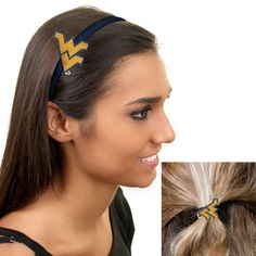 West Virginia Mountaineers Women's Headband and Ponytail Set - $8.99