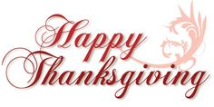 Happy Thanksgiving to all of our followers and their families.