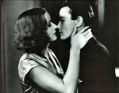 "Very polite kiss. Greta Garbo and Lew Ayres in ""The Kiss. Hollywood Actor, Golden Age Of Hollywood, Classic Hollywood, Kiss Poem, The Kiss, Lew Ayres, Best Kisses, Silent Film, Film Stills"