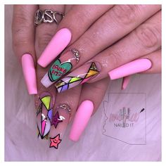 Want some ideas for wedding nail polish designs? This article is a collection of our favorite nail polish designs for your special day. Aycrlic Nails, Dope Nails, Coffin Nails, Nail Nail, Pink Nails, Nail Polish Designs, Nail Art Designs, Nails Design, Uñas Color Neon