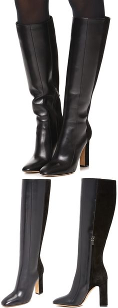 5ec6df9487d5 Sophisticated Salvatore Ferragamo boots crafted from a mix of rich suede  and tonal