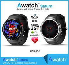 Awatch Saturn Android 5.1 smartwatch 3G  16GB ROM & camera   https://www.awatch.it/awatch-saturn.htm