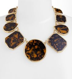 Kate Spade Tortoise Graduated Stone Necklace.