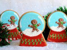 Snow Globe Cookies by @Amber Spiegel