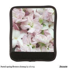 Pastel spring flowers closeup handle wrap