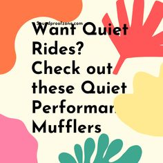 Want Quiet Rides? Check out these Quietest Performance Mufflers that will enhance your Engine performance without much noise Arthritis Relief, Sound Proofing, Marketing Ideas, All In One, Affiliate Marketing, Online Business, Blogging, Engineering