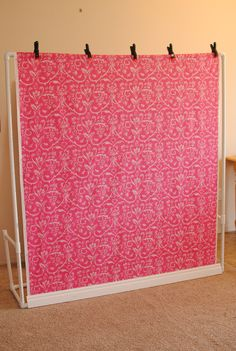 Photography Backdrop - 4.5'x 5.5' - Gray & White Damask with Top and Bottom Rod Casings - READY TO SHIP