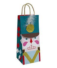 Nutcracker Bottle Gift Bag - Set of Two #zulily #zulilyfinds