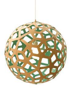 David Trubridge 'Coral' bamboo plywood pendant in Niagara, $385/small, Tongue & Groove.