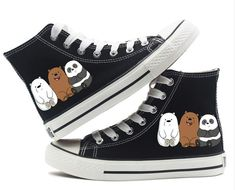 Cheap Shoes, Buy Directly from China Suppliers:We Bare Bears Grizzly Panda Ice Bear canvas Shoes High top Canvas Flat Sneakers Shoes Women Casual Printing Shoes Leisure Shoes Kawaii Shoes, We Bare Bears, Buy Shoes, Cheap Shoes, Women's Shoes, Shoes Sneakers, Kinds Of Shoes, Painted Shoes, Girls Shoes