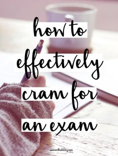 How to effectively cram for a college or high school exam! Don't like college classes overwhelm you, use these easy study tips and hacks!