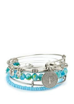 My current one is thrashed I can't wait to get this one!!! ALEX AND ANI Set of 5 Tree of Life Bangles
