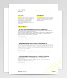 Microsoft Word Resume Templates  Adobe Photoshop Resume Templates