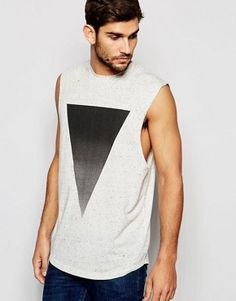 Discover men's t-shirts and vests at ASOS. Shop from plain, printed and long sleeve t-shirts and vests to longline and oversized styles with ASOS. Asos T Shirts, T Shirt Vest, Shirt Men, Asos Men, Triangle Print, Adidas Originals Mens, Sleeveless Shirt, Long Tops, Long A Line