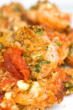 Roasted Shrimp with Feta