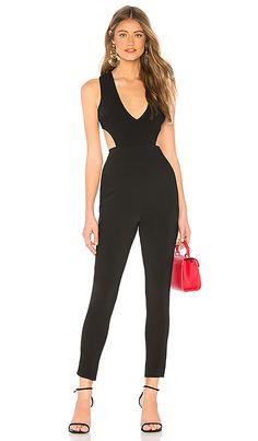 c358a659a1f Farrah Cut Out Jumpsuit in Black at REVOLVE.