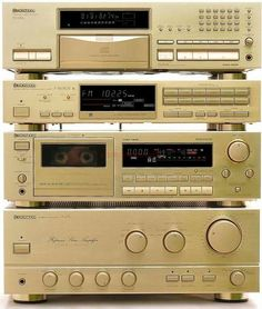 Pioneer Stereo, still have mine, bought in 1987 in the only shade, Black with a double CD player and double tape deck