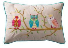 RAM PRAKASH CREATIONS Owl Blue Embroidered Cushion with inner included. This attractive cushion has blue backing and trim with owl in tree embroidered on natural background, also available in the owl range is a matching photo frame, jewellery box and note book. Hand made by skilled embroiderers near Delhi. 50x35cm £20.97 http://www.amazon.co.uk/dp/B00ITVZQ74/ref=cm_sw_r_pi_dp_B-wptb1F44T54