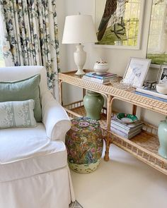 Rattan, Wicker, Southern Cottage, Chinoiserie, Slipcovers, Entryway Tables, Bamboo, Instagram Giveaway, Interiors