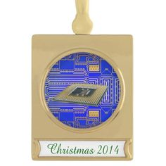 Electronics Circuit Board Gold Plated Banner Ornament