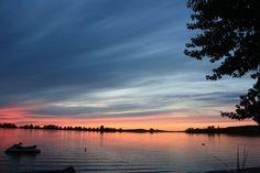 Sunset at Clearwater Lake, Saskatchewan