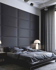 New bedroom ideas mens headboards Ideas You are in the right place about bedroom furniture arrangement Here we offer you the most beautiful pictures about the classic bedroom furniture you are looking Men's Bedroom Design, Home Room Design, Bedroom Colors, Home Decor Bedroom, Bedroom Ideas, Bedroom Furniture, Black Furniture, Diy Bedroom, Luxury Furniture