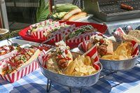 Entertaining expert, Sebastien Centner, shows you how to glam up your hot dogs for a fancier BBQ meal.