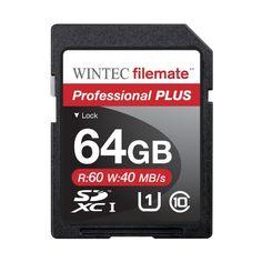 Introducing Filemate Wintec Professional Plus 64GB UHSI U1 SDXC C10 Card 3FMSD64GBU1PIR. Great product and follow us for more updates!