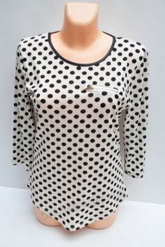 Bluzka Damska B110  _B3  (48-54) Polka Dot Top, Tops, Women, Fashion, Moda, Fashion Styles, Shell Tops, Fashion Illustrations