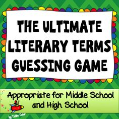 Literary Terms and Critical Thinking Terms