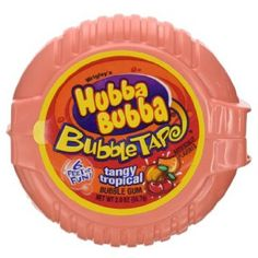 HUBBA BUBBA BUBBLE GUM TAPE TANGY TROPICAL