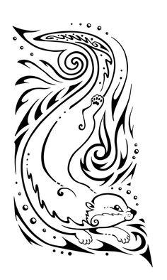 otter_tattoo_design_by_twapa-d3k65kh.png 600×1,003 pixels