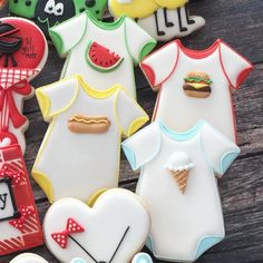 """139 Likes, 3 Comments - by @anythingplantationhouse  (@cookiesbygiftedhands) on Instagram: """"Wednesday, November 1, 2017 (Day 305/365) A Theme A Month Cookies (ATAMC2017) November - Onesie…"""""""