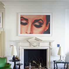 The living room of David Gill and Francis Sultana's London apartment, with…