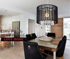 59.53$  Buy here - http://aliavf.worldwells.pw/go.php?t=32596004329 - NEW Black crystal chandeliers minimalist modern Restaurant chandelier Dia 25cm free shipping