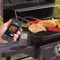 Steotypical Fathers Day gigys your dad will probably still love anyway...This grill thermometer that sends alerts to your phone.